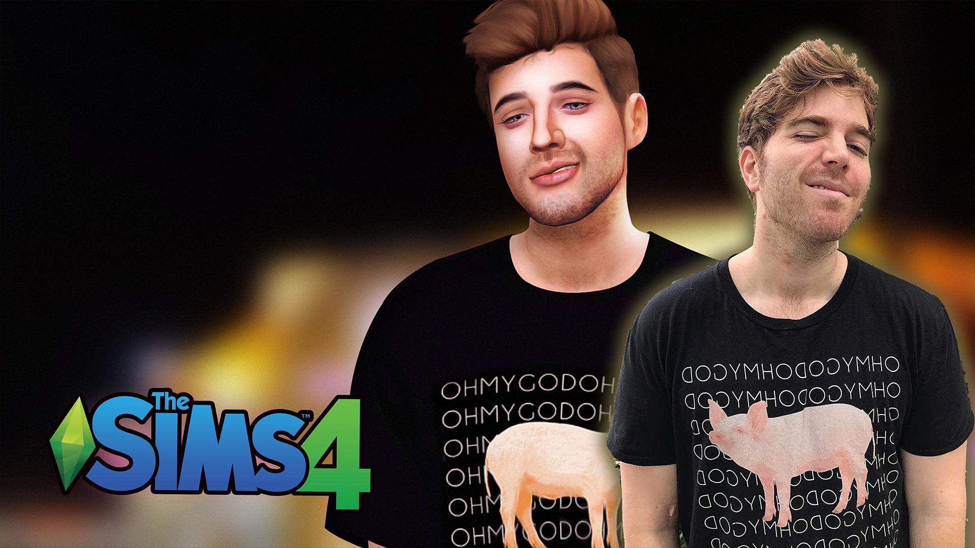Sims 4 Male Boxy Tee   ANLIS