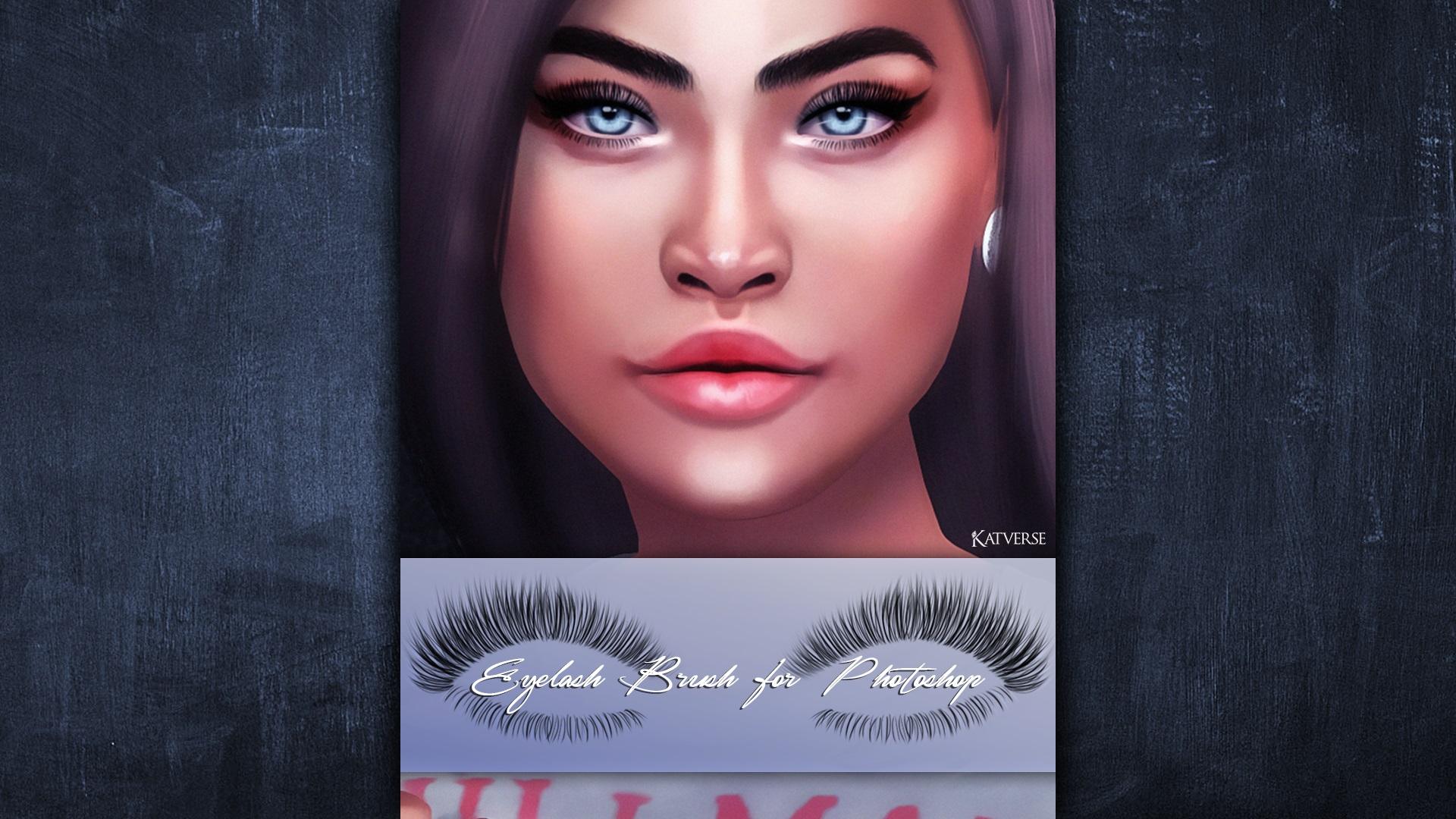 Eyelash Brush 01 For Photoshop Gimp And Paint